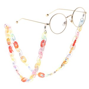 Wholesale acrylic transparent resin resale online - Resin acrylic transparent color simple retro fashion eyewear chain anti slip glasses rope spectacle chain Statement Jewelry