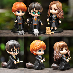 Wholesale dolls resale online - 3 Q Posket Action Figures Doll Toys Hermione Ron cm PVC Model Toys for Kids Birthday Christmas Gift