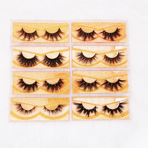 Wholesale box cost resale online - SHipping cost Mink Eyelashes Cruelty free d Mink Lashes Handmade Reusable Natural Eyelashes With pacakging box Wispies False Eyelashes