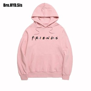 Wholesale teen girls clothes for sale - Group buy Spring Friends Letter Print Hoodies Women Sweatshirts Harajuku Hooded Sweats Long Sleeve Women s Clothing Teens Girls