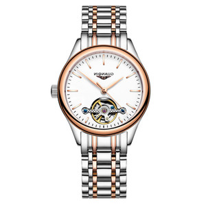 Wholesale ladies skeleton watches resale online - New Fashion Top Brand Luxury Skeleton Women Mechanical Wrist Watch Clock Lady Automatic Watches for Famale Sier Montre Femme