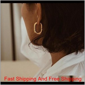Wholesale men's hoop earrings resale online - Best Selling Chic O Shaped Hoop Earrings Women S Chunky Hoops Geometrical Metal Earrings Minimalist Jewelry Qanwg K5Ple