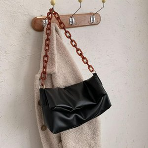 ingrosso borsa lunga marrone-Borsa a tracolla Brown Brown Brown Body Messenger Bag Solid Color Black Shoulder Designer Borse Long Handbag Portable Street