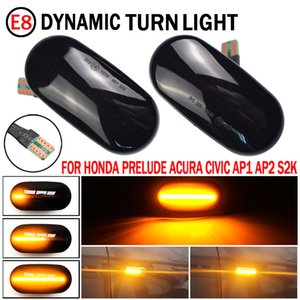 Wholesale honda crx resale online - Led Dynamic Side Marker Turn Signal Light Sequential Blinker Light For HONDA Prelude CRX S2000 Integra Fit Del Sol Acura Civic