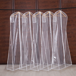 Wholesale american designer bags resale online - 3 Sizes Clothing Covers Clear Suit Bag Household Hanging type Coat Suit Moth Proof Garment Bags Breathable Zipper Dust Cover CPA2940