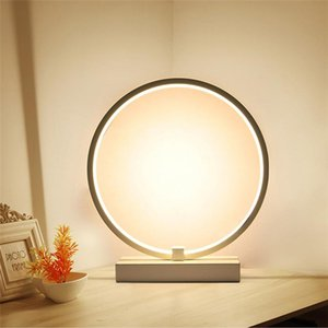 Wholesale room painting colors resale online - Table Lamp Round Circular Modern Acrylic Desk Lamp For Living Room CM Light Colors LED Night light For Bedroom Bedside