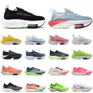 zoom fliegen großhandel-2021 Neue Zoom Fly Next Womens Mens Mode Laufschuhe Triple Black Electric Ice Blue Volt Rosa Segel Sneakers Trainer