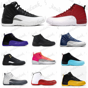 französische schuhe für männer großhandel-air jordan aj12 s Basketball jordans Shoes Rookie of Arrivals OG High Low Mens Womens aj12 union the Year Shattered Crimson Jumpman Tint Sneakers Trainers