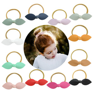 Wholesale ear claws resale online - Free DHL Candy Colors Cat Ears Hairbands Kids Baby Girls PU Hair Claws Barrette Children Little Girls Hair Clips Hair Accessories