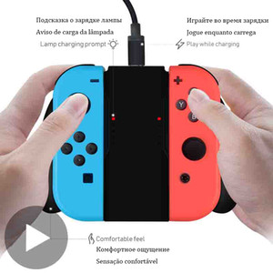 Wholesale switch dock nintendo resale online - Charging Dock Grip For Nintendo Nintend Switch Joy Con Joycon Charger Controller Nintendoswitch Joyicon Control Accessories Base