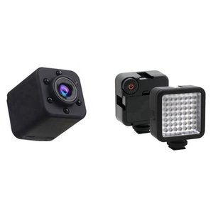 video encubierto al por mayor-HD P Mini cámara DV portátil portátil CUBIERTE CAM CAM LED brillante luz de video LED Cámara de iluminación regulable