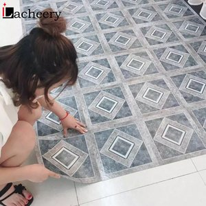 Wholesale tile decals for kitchen for sale - Group buy Thick Self Adhesive Marble Floor Sticker Decorative Wall Panel for Kitchen Waterproof Tile Ground Stickers Home Decoration Decal