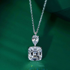 Wholesale s925 diamond pendant resale online - HBP fashion luxury jewelry new S925 Sterling Silver Necklace simulation Pendant