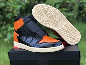 Wholesale cut couple for sale - Group buy Genuine Jumpman Couple Basketball Shoes Amber Orange Black Men s Women s Sports Shoelaces Shoebox Full Size