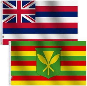 hawaii flagge großhandel-Hawaii Kanaka Maoli Flagge Große x5 ft fuß Native Hawaiians Flaggen Hallo Flaggen Banner cm Polyester mit Messing Tüllen Home Garten Wand