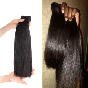 Wholesale draw hair for sale - Group buy Double Drawn Bone Straight Hair Weaves Bundles Vrigin Hair Extensions Natural Color Thick Ends Hair Bundles