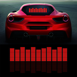 Wholesale car music rhythm lamp led for sale - Group buy Red Music Rhythm Flash Light Car LED Fire Sound Activated Sensor Equalizer Rear Windshield Sticker Styling Neon Lamp