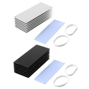 Wholesale hard drives disk resale online - 1Set Aluminum Heatsink Cooling Thermal Pad Cooling Radiator Cooler For NVME M NG FF SSD Solid State Hard Drive Disk