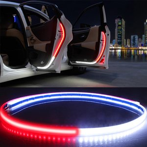 Wholesale interior decorative resale online - Car Interior Door Welcome Light LED Safety Warning Strobe Signal Lamp Strip cm Waterproof V Auto Decorative Ambient Lights