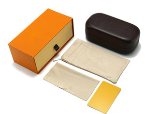 Top Quality Box Case For Sunglasses Eyeglasses Protective Eyewear Accessories Sunglasses Packaging Case Classic Brown Sunglasses Box