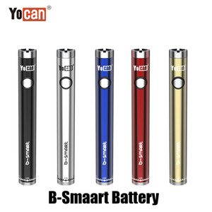 Wholesale e cig vape display stands resale online - Authentic Yocan B Smart Battery mAh Slim Twist Preheat VV Bottom Adjustable Voltage E Cig Vape Pen With Display Stand Genuine