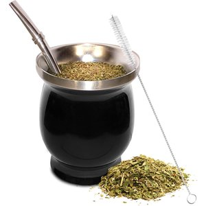 Wholesale tea mates for sale - Group buy Yerba Mate Natural Gourd Tea Cup Set Ounces Bombillas Yerba Mate Straw Cleaning Brush Stainless Steel Double Walled Easy Clean