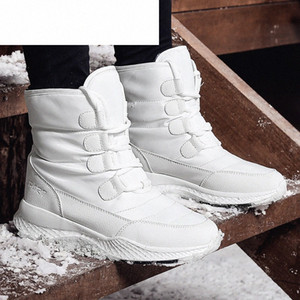 Wholesale short water boots resale online - CINESSD Women Boots Winter White Snow Boot Short Style Water Resistance Upper Non Slip Quality Plush Black Botas Mujer Invierno m9oE