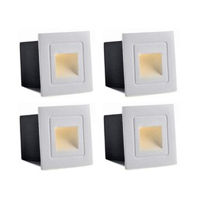 Wholesale recessed wall night light resale online - Waterproof Corner Deck Recessed Step Lights W W V LED Stairs Step Night Light Indoor Outdoor Wall Lighting mm mm