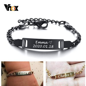 Wholesale customized stainless bracelets for sale - Group buy Anti Allergy Stainless Steel Bracelets for Baby Babi Customize Name Birth ID Bar Personalized Girls Boys Child Unique Gift