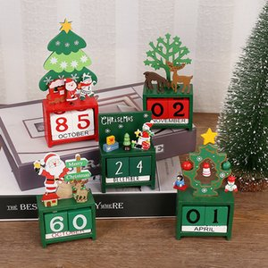 Wholesale advent calendars resale online - Wood Calendar Fashion Woods Christmas Santa Claus Advent Calendars Creative Children s Gift Table Decoration Ornament WLL385
