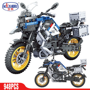 Wholesale children electric motorcycle for sale - Group buy Best High tech Electric Motorcycle Car Diy Model Building Blocks Speed Racing City Vehicle MOC Motorbike Bricks Kits Toys For Children