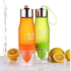 Wholesale shaker bottles for sale - Group buy 13Color Creative Fruit Juice Infuser Water Bottle Kettle ml H2O Plastic Portable Lemon Juice Water Outdoor Shaker Sport bottle GWF5283