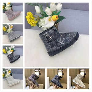 castaña al por mayor-UGG Classic Clear Mini shoes Mujeres Snow Platform Boots Shoes Fashion Australia Invierno Cuero Boot Classic Mini Tobillo Chicas cortas Botines Black Chestnut