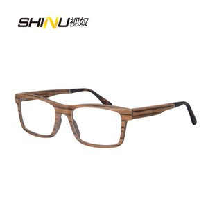Wholesale white ebony wood resale online - nature wooden optical glasses frame men fashion eyeglasses zebra ebony wood glasses blue light myopia prescription eyewear