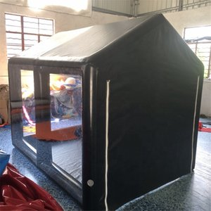 Wholesale inflatable sunshade for sale - Group buy Airtight Inflatable spray booth Garage Tent motorcycle sunshade painting House Car Repairing Room without blower inflating all the time