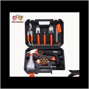 Wholesale glue gun set for sale - Group buy Gardening Tools Sets Basic Garden Combination Pruning Pruner Flower Planting Shovel Spade Rake Fork Heat Melt Glue Gun With Box Avtmm Lz3D