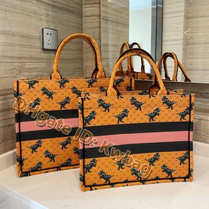 Wholesale canvas storage buckets resale online - Large Capacity Bucket Women Handbag Designer Print Embroidery Multicolor bag Fashion Canvas totes clutch fabric Shoulder Storage Bags Multifunction Handbags