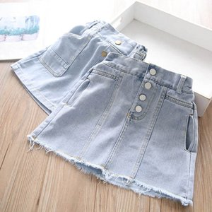 Wholesale washing baby clothes for sale - Group buy Spring Summer New Denim Girls Skirts Soft Wash A Line Kids Shorts Skirt Baby Clothes Children Clothing Y B3794