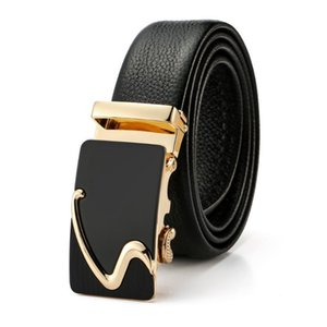 Wholesale grain belt for sale - Group buy Fashion S Letter Automatic Buckle Luxury Leather Belt Men s Business Belt Full Grain Leather Man Waist Strap