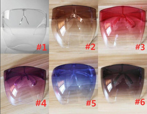 Wholesale hot shield resale online - Hot Sell Clear Radical Alternative Transparent Shield and Respirator PC Anti fog Face Shield Anti spray Mask Protective Goggle Glass