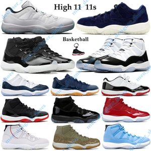 New 11 11s 25th Anniversary Basketball Shoes Men Women Sneakers with Keychain Tag concord 45 23 gamma blue bred 2019 classic Trainers