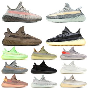Wholesale boys shoes size 13 resale online - 2021 NEW ASH Stone SIZE Running Shoes Pearl Carbon Israfil Men Women Tail Light Yecheil Static Cream Zebra Trainers Sneakers US
