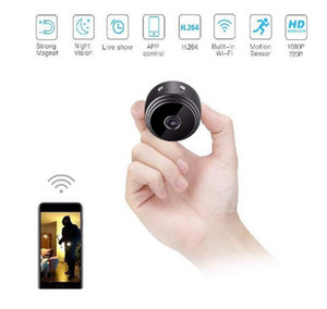 Wholesale small wireless wifi ip camera for sale - Group buy A9 P Full HD Mini Spy Video Cam WIFI IP Wireless Security Hidden Cameras Night Vision Small Camcorder