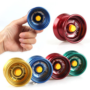 magische balltricks großhandel-Metall Zappel Spinner Metall Yoyo Legierung Aluminium Design High Speed Professionelle Yoyo Kugellager String Trick Yo Yo Kinder Magie Jonglieren Spielzeug