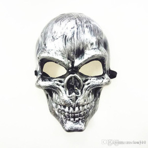 Wholesale plastic faces mask for sale - Group buy Halloween Adults Skull Mask Plastic Ghost Horror Mask Gold Silver Skull Face Masks Unisex Halloween Masquerade Party Masks Prop DBC VT0943