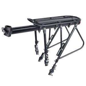 Wholesale heavy bikes resale online - Heavy Duty Bicycle Luggage Carrier Rear Cargo Rack Seatpost Bag Holder Stand for Inch Bikes Semi Demolition