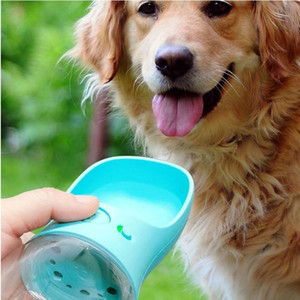 Wholesale cups dogs resale online - Pet Dog Water Bottle Portable Travel Cups Outdoor Feeder Water Drinking Bowl ML Small Large Dogs Pet Products YHM477