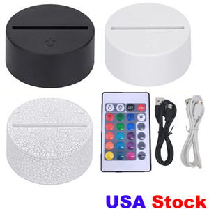 Wholesale egg drop resale online - 3in1 RGB LED Lamp Bases for D Illusion Night Light Touch Switch Replacement Base for D D Table Desk Lamps usa stock drop ship fedex