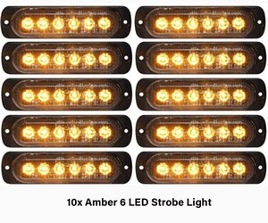 Wholesale amber led bar lights for sale - Group buy 10Pcs Amber Emergency Strobe Lights LED Strobe Warning SMD Flashing Light Caution Construction Light Bar Van Off Road Vehicle ATV SUV