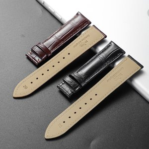Wholesale brown skin spots resale online - Top Quality Genuine Nile Crocodile Leather Watch Band Spot Factory Direct Delivery Alligator Skin mm